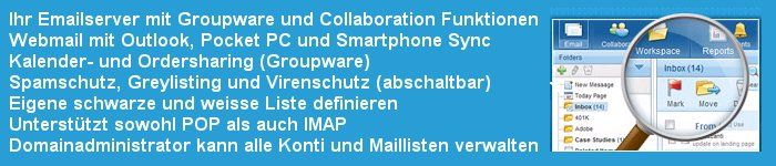 Airmail Switzerland - Email Host mit Groupware / Outlook Funktionalitäten