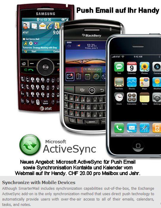 Push Mail in Echtzeit auf Ihrem Handy mit ActiveSync von Microsoft